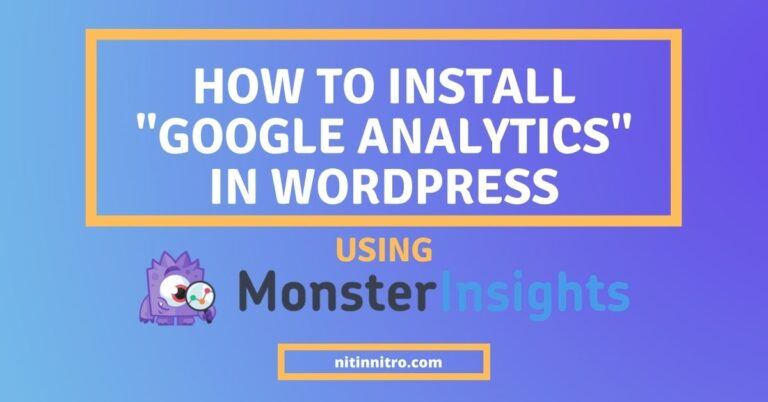 how to install google analytics in wordpress by monsterinsights.