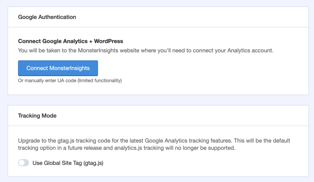 Global Site Tag Tracking Code